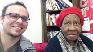 Volunteer Eugene with Hyacinth