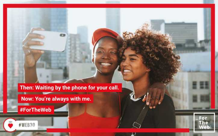 Then: Waiting by the phone for your call. Now: You're always with me. #ForTheWeb